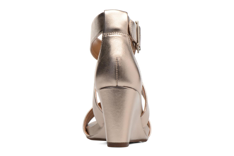 Sandales et nu-pieds Clarks Acina Newport Or et bronze vue droite