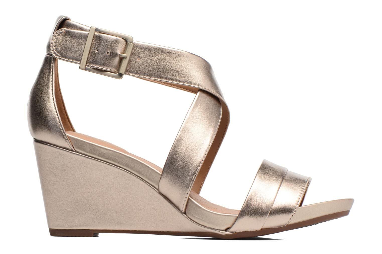 Sandales et nu-pieds Clarks Acina Newport Or et bronze vue derrière