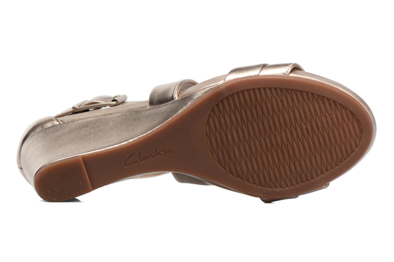 Sandales et nu-pieds Clarks Acina Newport Or et bronze vue haut