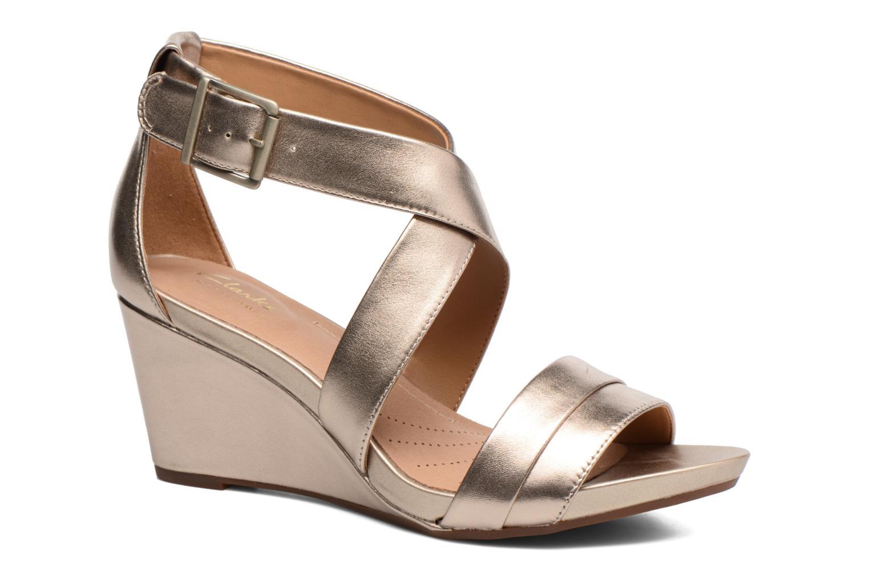 Sandales et nu-pieds Clarks Acina Newport Or et bronze vue détail/paire