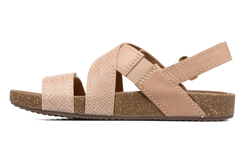 Sandales et nu-pieds Clarks Rosilla Essex Marron vue face
