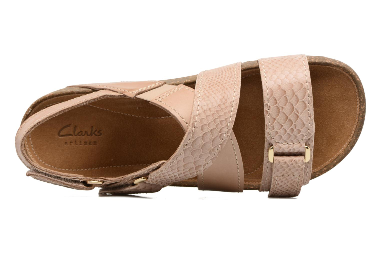 Sandales et nu-pieds Clarks Rosilla Essex Marron vue gauche