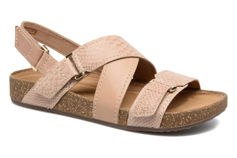 Sandales et nu-pieds Clarks Rosilla Essex Marron vue détail/paire