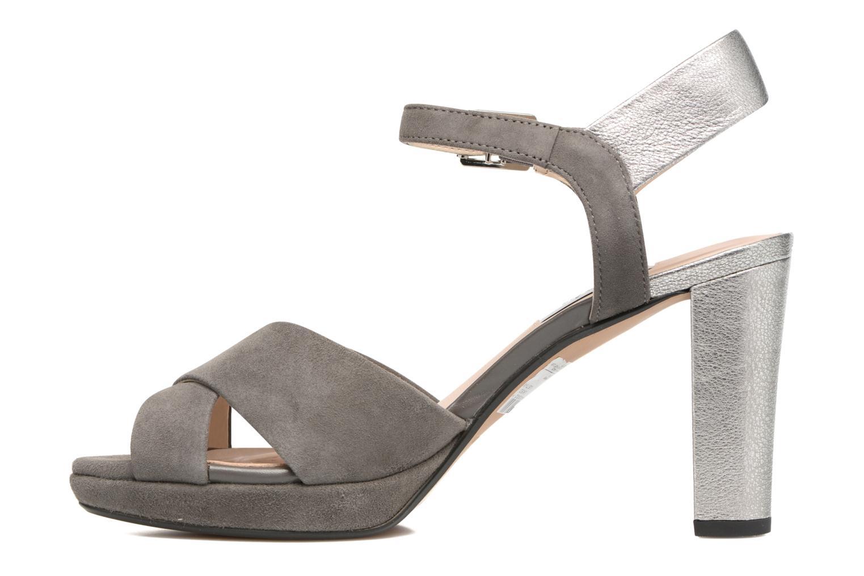 Sandales et nu-pieds Clarks Kendra Petal Gris vue face