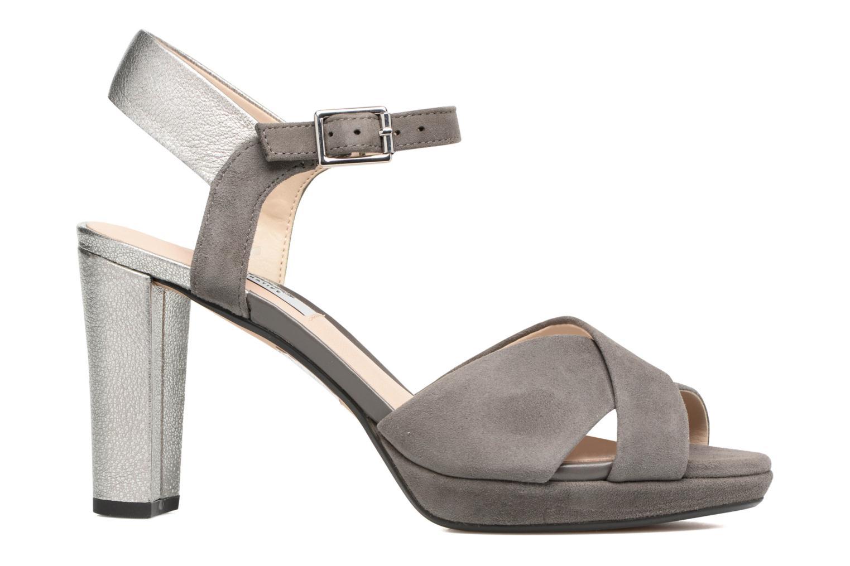 Sandales et nu-pieds Clarks Kendra Petal Gris vue derrière