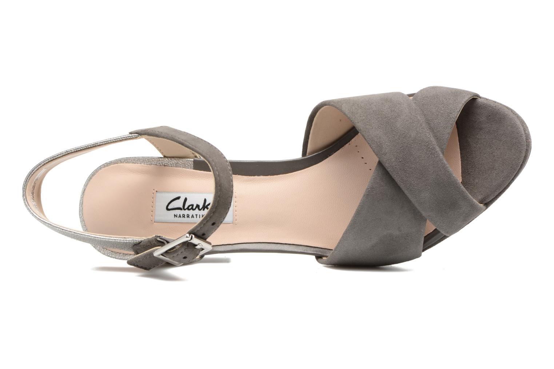 Sandales et nu-pieds Clarks Kendra Petal Gris vue gauche