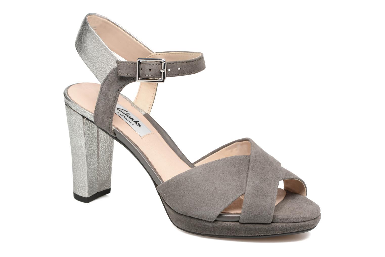 Sandales et nu-pieds Clarks Kendra Petal Gris vue détail/paire
