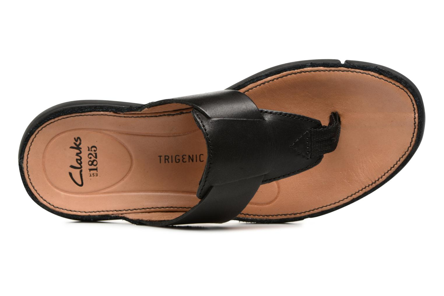 Trisand Post Black leather