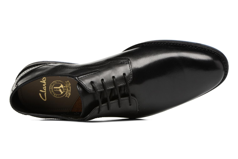 Chaussures à lacets Clarks Prangley Walk Noir vue gauche