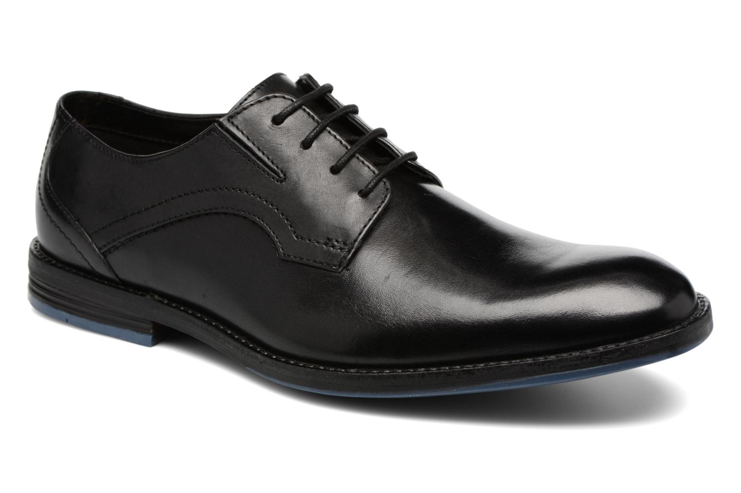 Marques Chaussure homme Clarks homme Prangley Walk Black leather