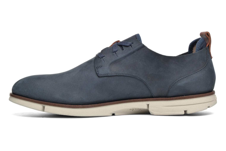 Chaussures à lacets Clarks Trigen Lace Bleu vue face