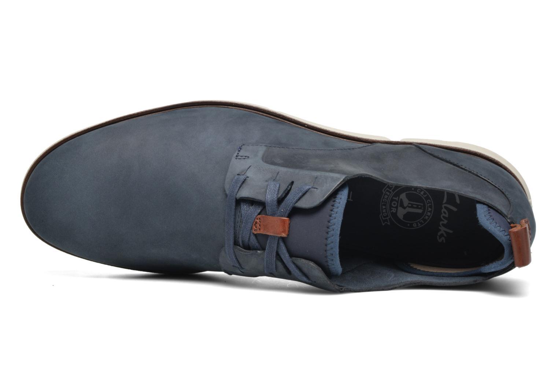 Chaussures à lacets Clarks Trigen Lace Bleu vue gauche