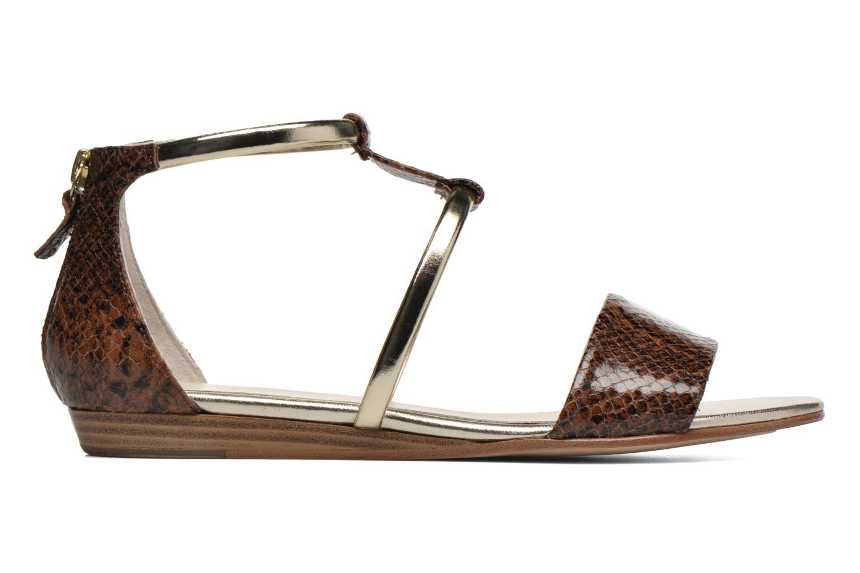 Sandales et nu-pieds Anaki Pamela Marron vue derrière