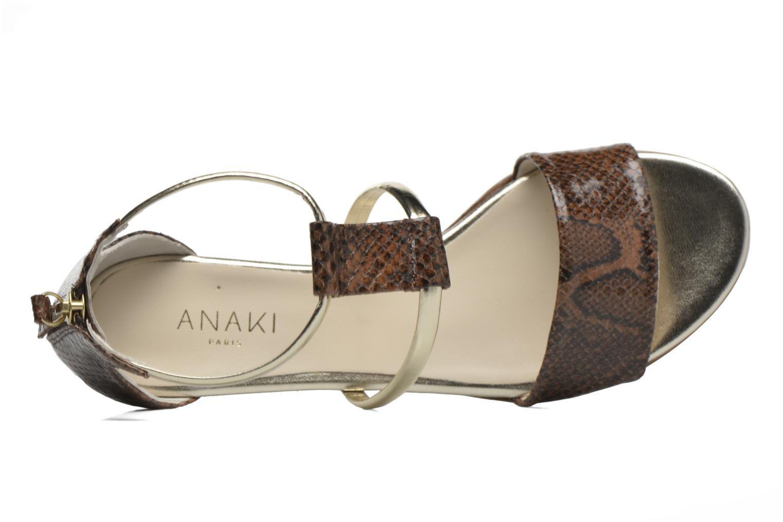 Sandales et nu-pieds Anaki Pamela Marron vue gauche