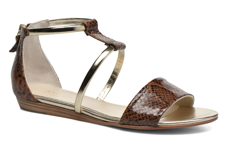 Sandales et nu-pieds Anaki Pamela Marron vue détail/paire
