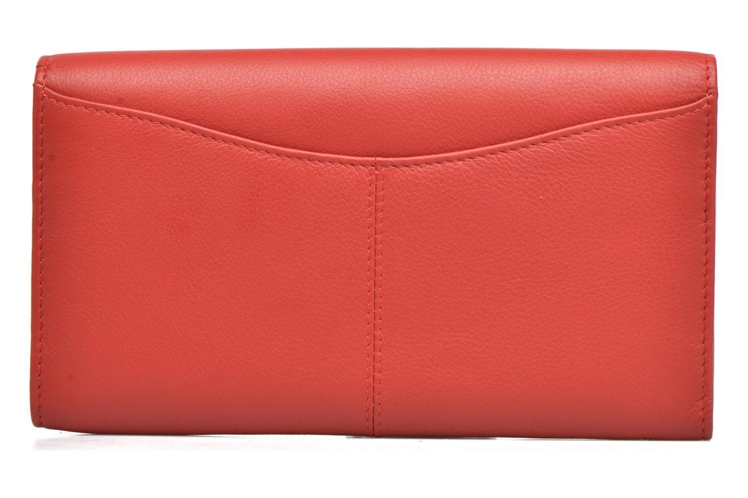 Wallets & cases Le Tanneur VALENTINE Porte-monnaie long anti-RFID Red view from the right