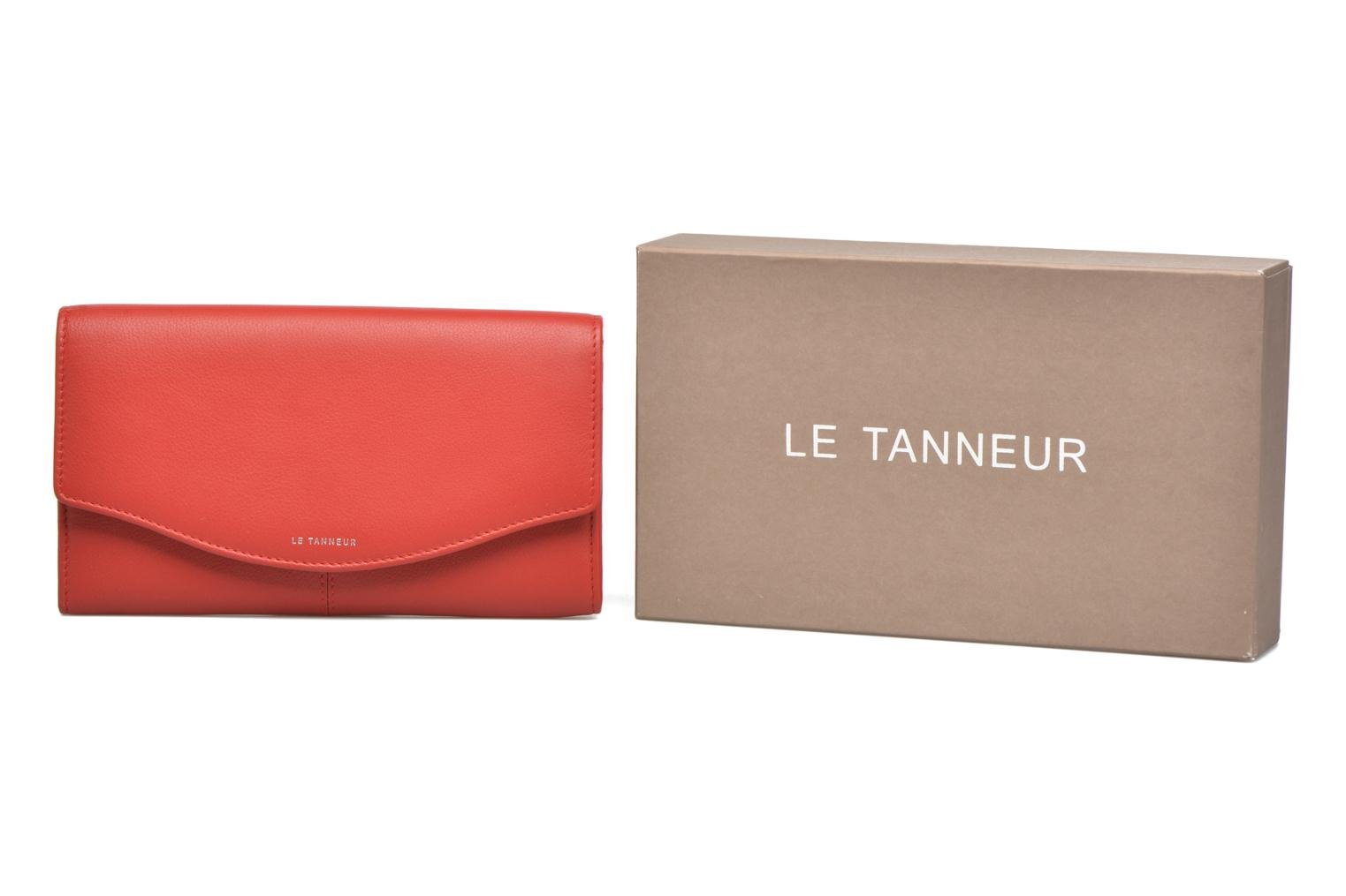 Wallets & cases Le Tanneur VALENTINE Porte-monnaie long anti-RFID Red detailed view/ Pair view
