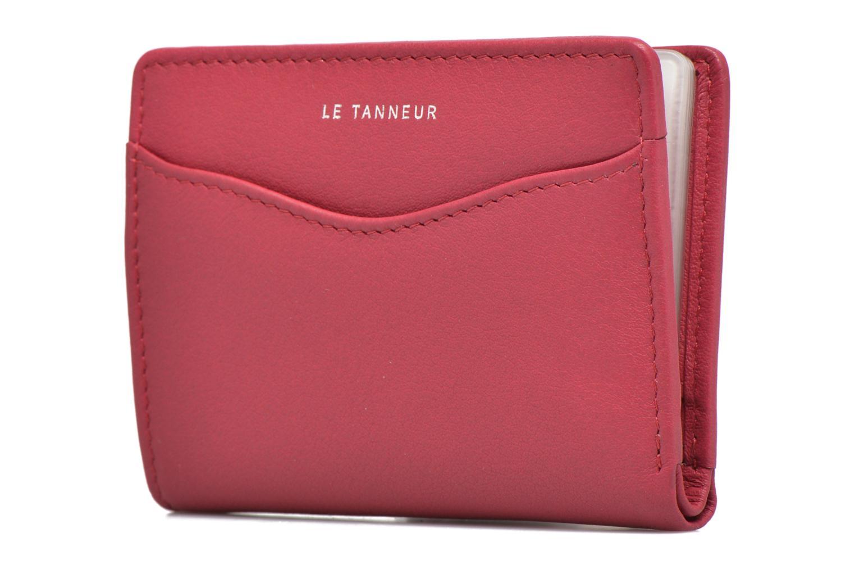 Petite Maroquinerie Le Tanneur VALENTINE Porte-cartes anti-RFID Rose vue portées chaussures