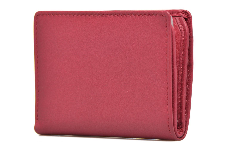 Portemonnaies & Clutches Le Tanneur VALENTINE Porte-cartes anti-RFID rosa ansicht von rechts