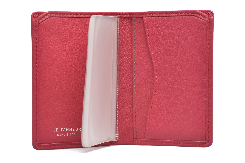 Petite Maroquinerie Le Tanneur VALENTINE Porte-cartes anti-RFID Rose vue derrière