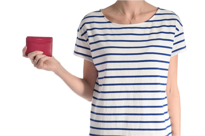 Petite Maroquinerie Le Tanneur VALENTINE Porte-cartes anti-RFID Rose vue haut