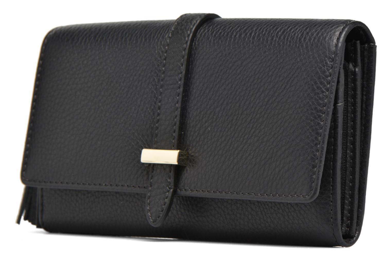 Wallets & cases Le Tanneur CAPUCINE Porte-monnaie long Black model view