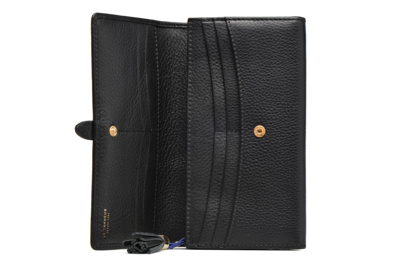 Wallets & cases Le Tanneur CAPUCINE Porte-monnaie long Black back view