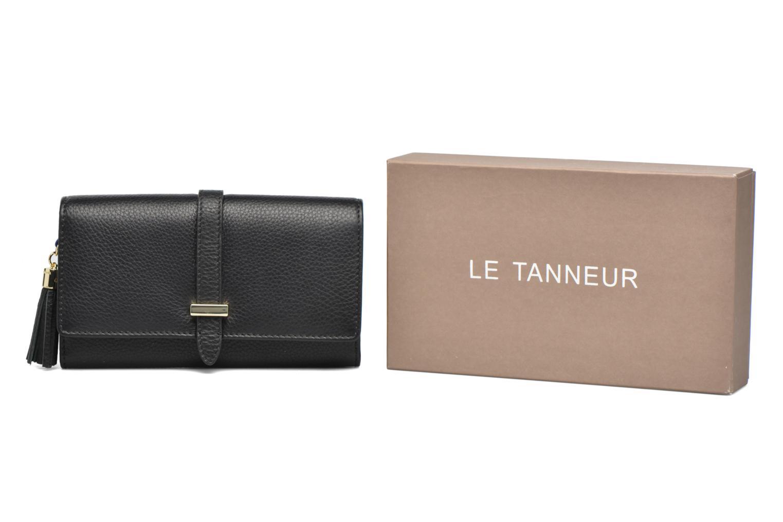 Petite Maroquinerie Le Tanneur CAPUCINE Porte-monnaie long Noir vue détail/paire