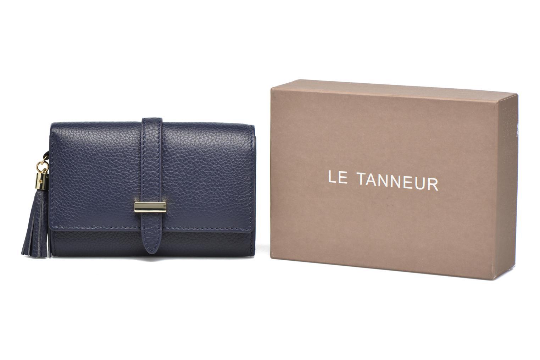 Petite Maroquinerie Le Tanneur CAPUCINE Porte-monnaie rabat Bleu vue détail/paire