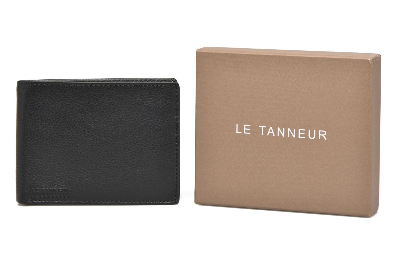 Petite Maroquinerie Le Tanneur MARIUS Porte-billets monnaie Noir vue détail/paire