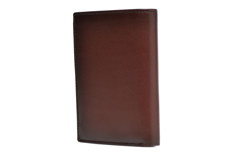 Petite Maroquinerie Le Tanneur CORENTIN Portefeuille zippée anti-RFID Marron vue droite
