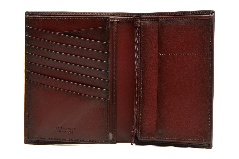 Petite Maroquinerie Le Tanneur CORENTIN Portefeuille poche zippée anti-RFID Bordeaux vue derrière