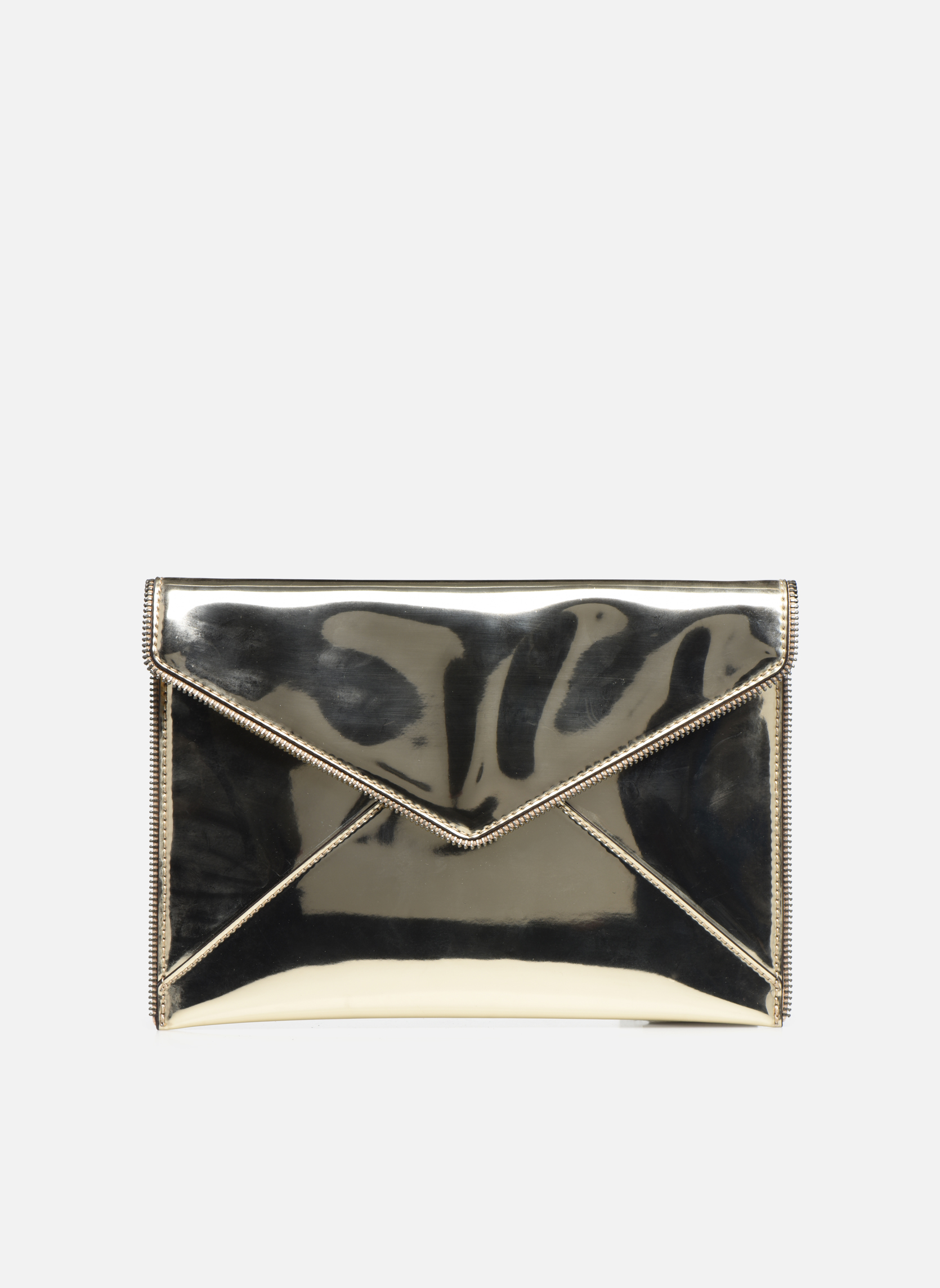 MIRRORED METALLIC LEO CLUTCH