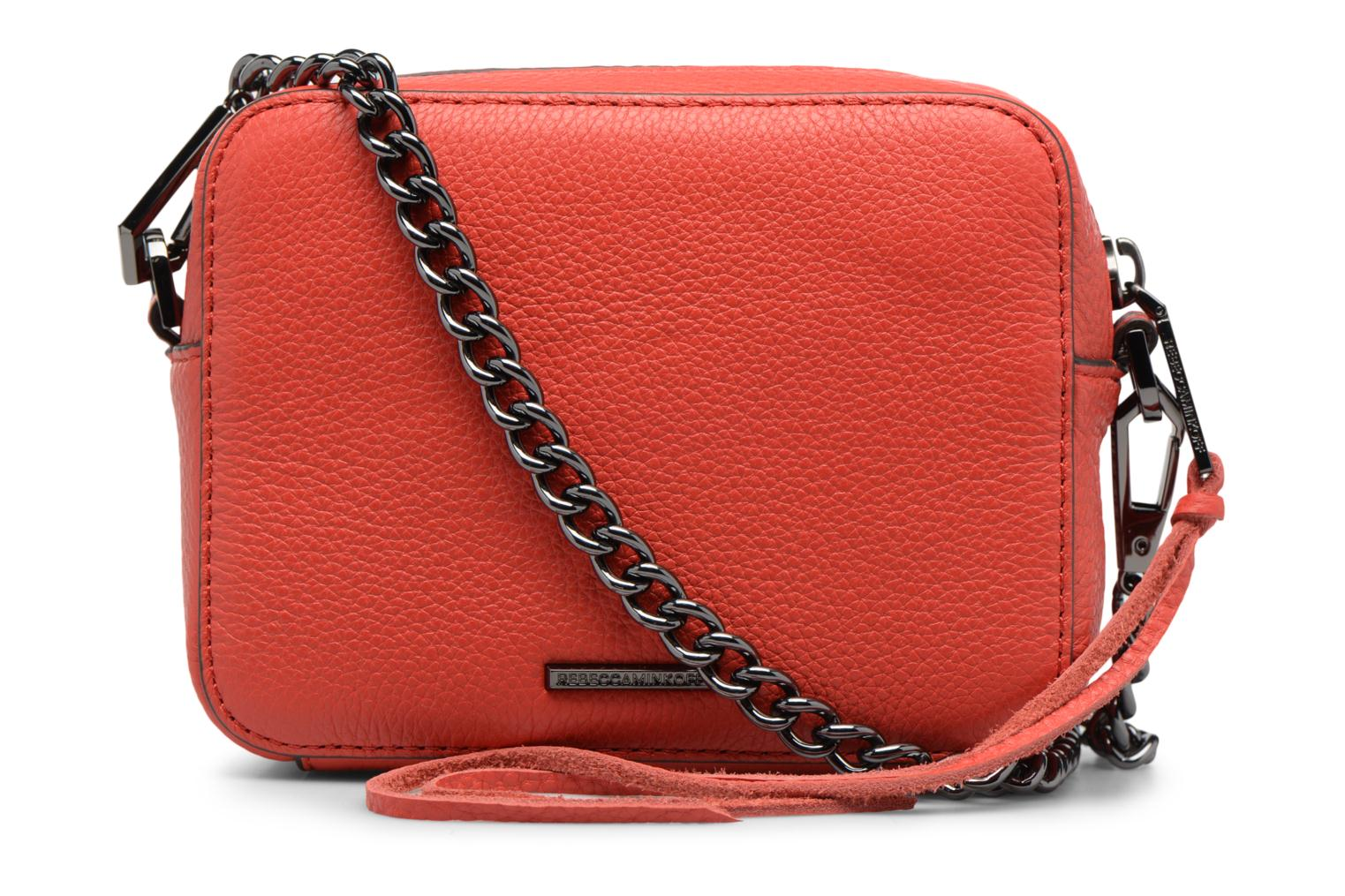 Sacs à main Rebecca Minkoff 4 ZIP MOTO CAMERA BAG Rouge vue face