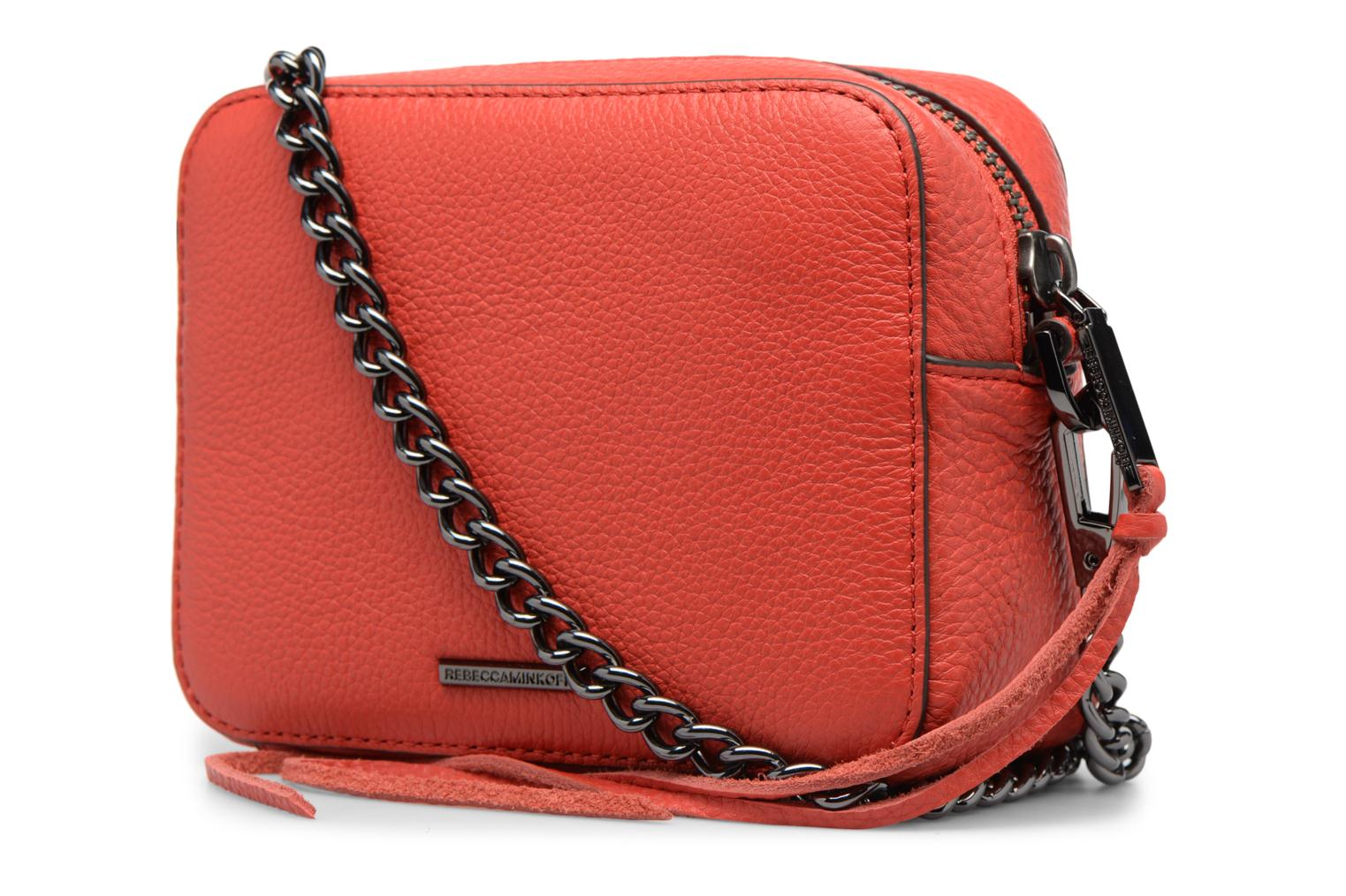 Sacs à main Rebecca Minkoff 4 ZIP MOTO CAMERA BAG Rouge vue droite