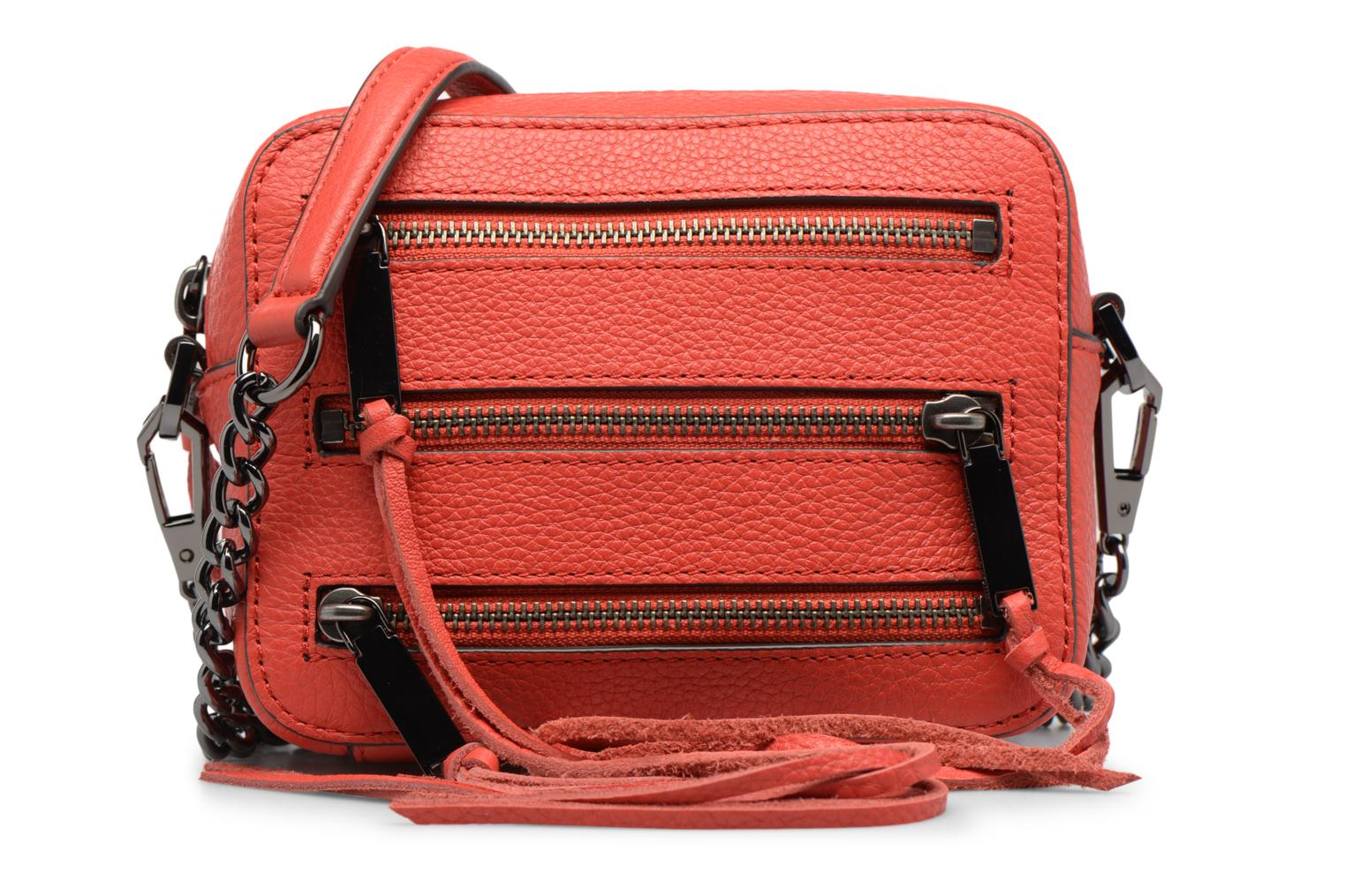 Sacs à main Rebecca Minkoff 4 ZIP MOTO CAMERA BAG Rouge vue détail/paire