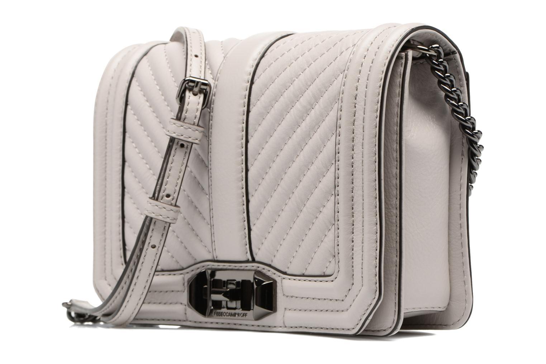Bolsos de mano Rebecca Minkoff CHEVRON QUILTED SMALL LOVE CRO Gris vista del modelo