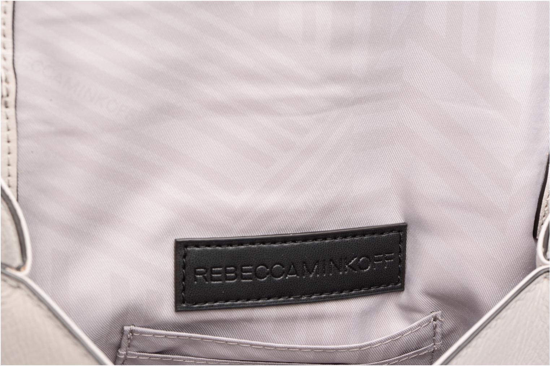 Bolsos de mano Rebecca Minkoff CHEVRON QUILTED SMALL LOVE CRO Gris vista lateral izquierda