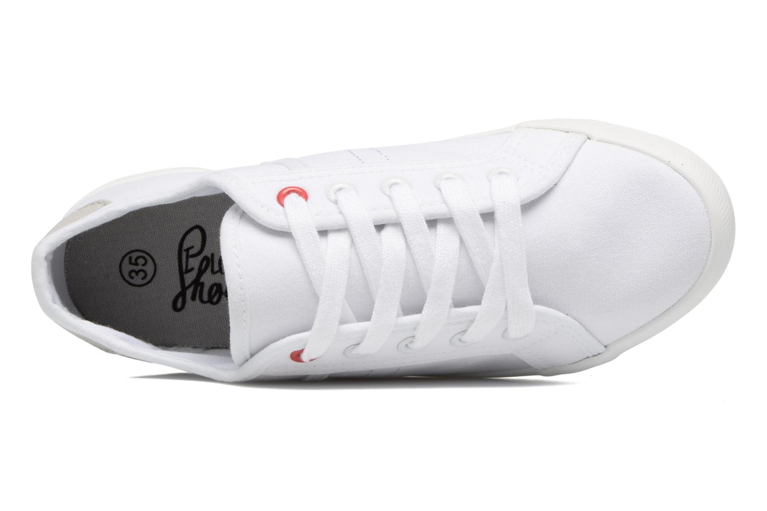 Baskets I Love Shoes GOLCEN Blanc vue gauche