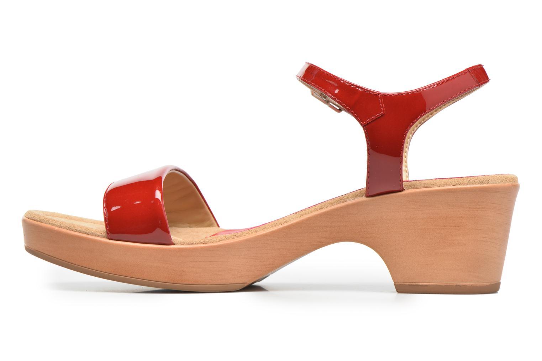 Sandales et nu-pieds Unisa Irita 3 Rouge vue face