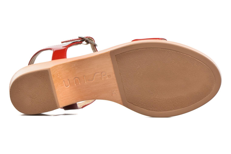 Sandales et nu-pieds Unisa Irita 3 Rouge vue haut