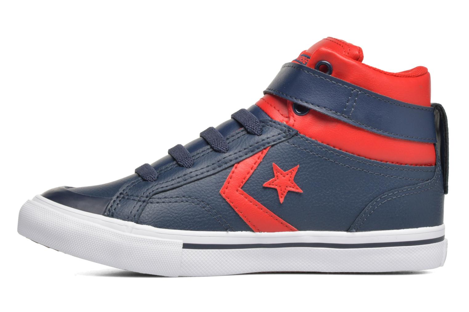 Baskets Converse Pro Blaze Strap Stretch Bleu vue face