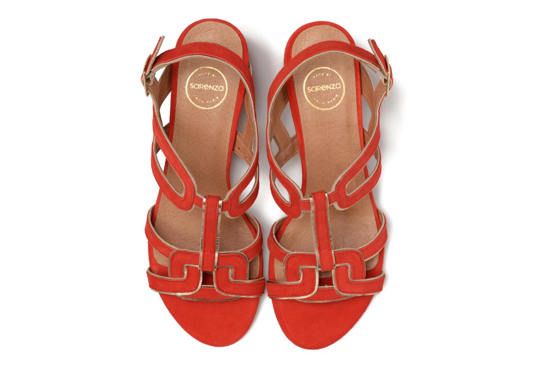 Sandales et nu-pieds Made by SARENZA Frida Banana #2 Rouge vue portées chaussures