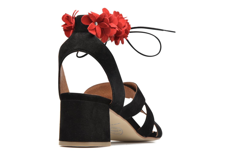 Frida Banana #4 Ante noir fleurs rojo