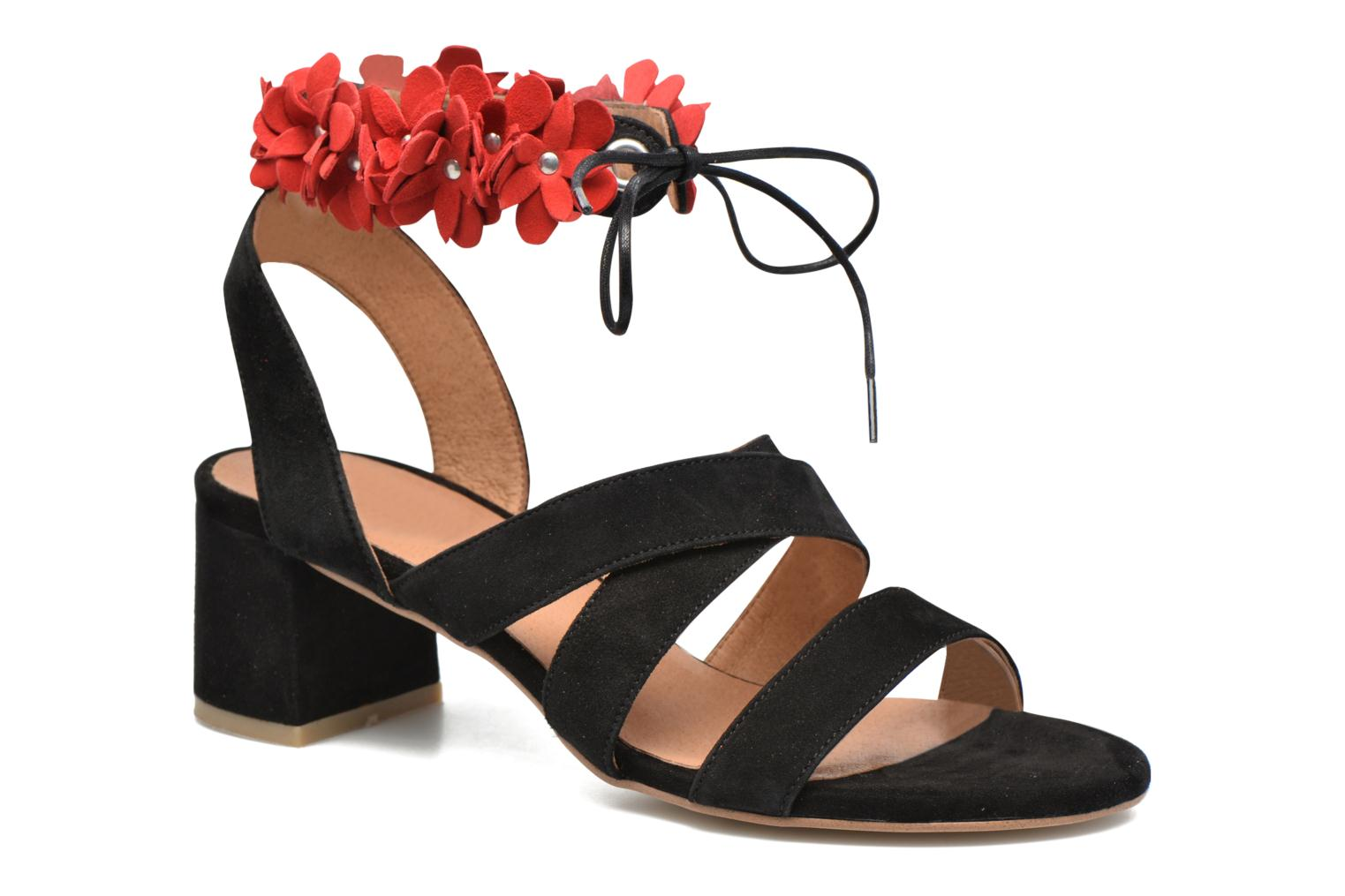 Sandals Made by SARENZA Frida Banana #4 Black view from the right