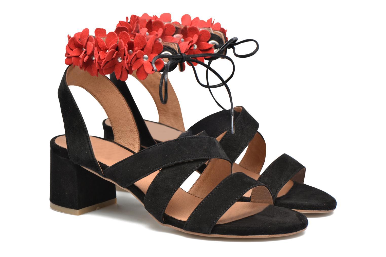 Sandalen Made by SARENZA Frida Banana #4 schwarz ansicht von hinten
