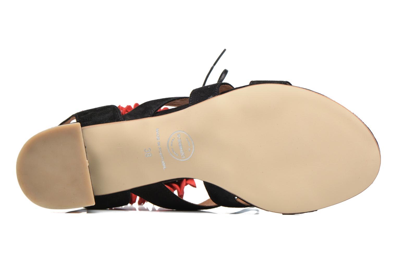 Sandalen Made by SARENZA Frida Banana #4 schwarz ansicht von oben