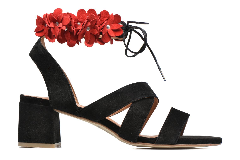 Sandals Made by SARENZA Frida Banana #4 Black detailed view/ Pair view