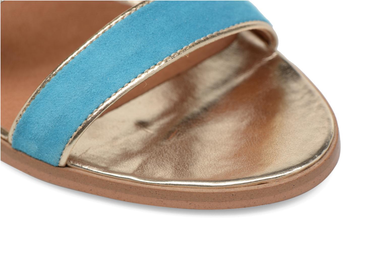 Bombay Babes Sandales à Talons #2 Cuir Velours Multico Turquoise