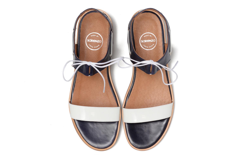 Sandalias Made by SARENZA Pastel Belle #6 Azul vista del modelo